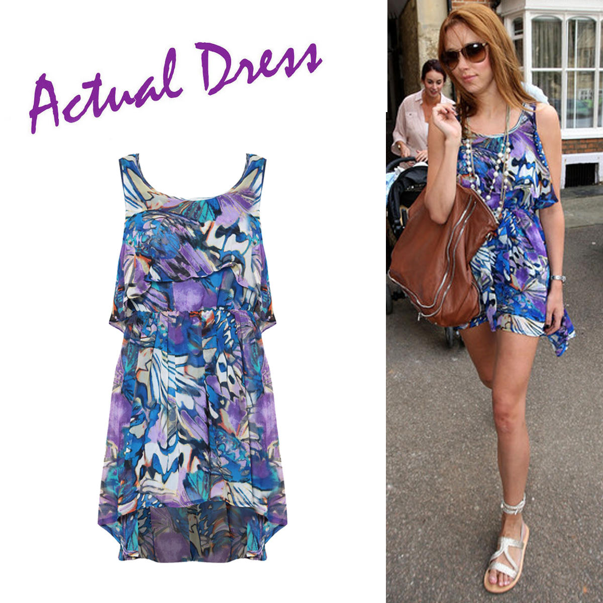 Abstract Print Layered Dress Preview